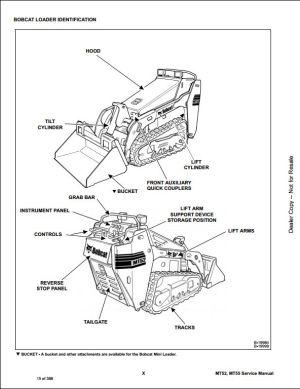Bobcat MT52,MT55 Mini Track Loader Service Repair Workshop Manual A3WR11001A3WU11001 | A Repair