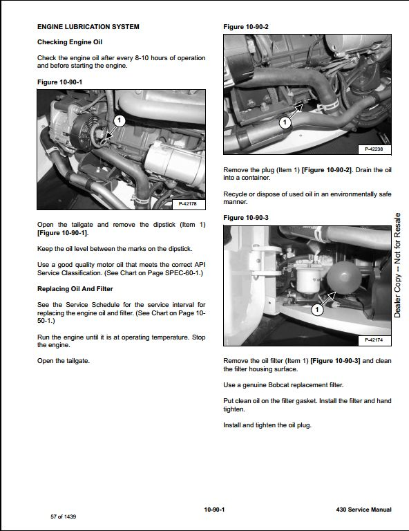 Bobcat 430 Mini Excavator Service Repair Workshop Manual