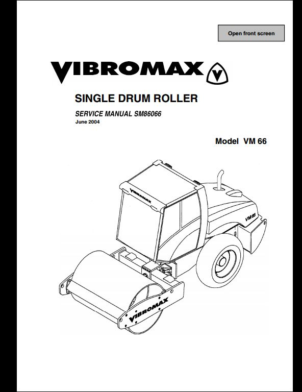 Vibromax VM 66 Sigle Drum Roller Service Repair Workshop