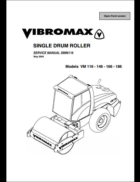 Vibromax VM 116,146,166,186 Sigle Drum Roller Service