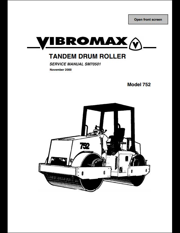 Vibromax 752 Tandem Drum Roller Service Repair Workshop