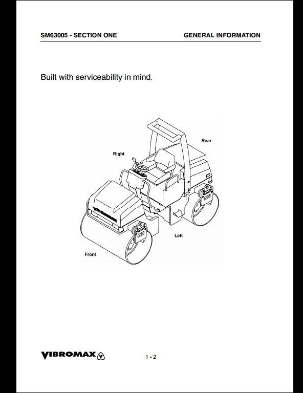 Vibromax 355/365,455/465 Tandem Roller Service Repair