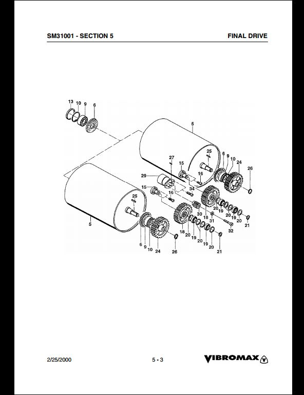 Vibromax Walk-Behind Roller Service Repair Workshop Manual