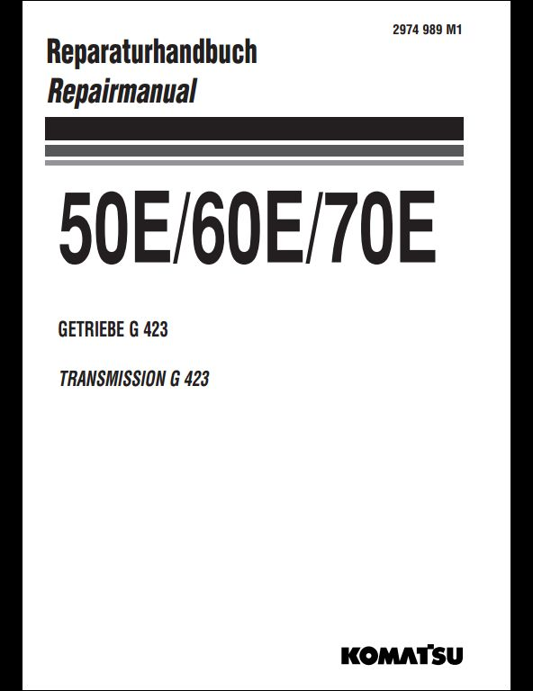 KOMATSU Transmission Gear 50E,60E,70E Service Repair