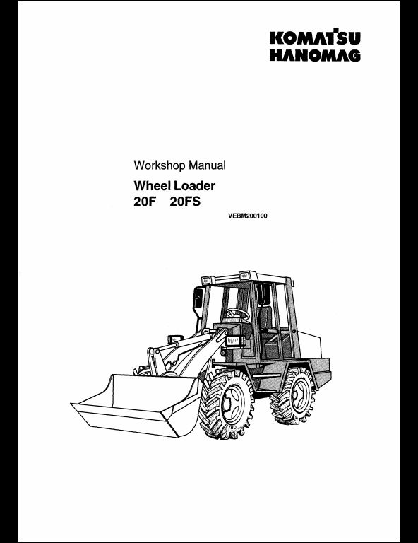 KOMATSU Wheel Loader 20F,20FS Service Repair Workshop