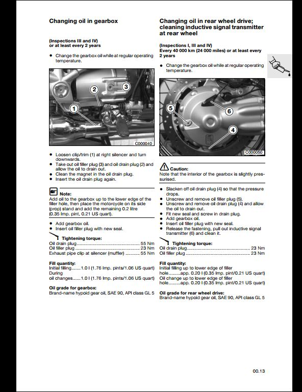 BMW R850C,R1200C Motorcycle Service Repair Workshop Manual