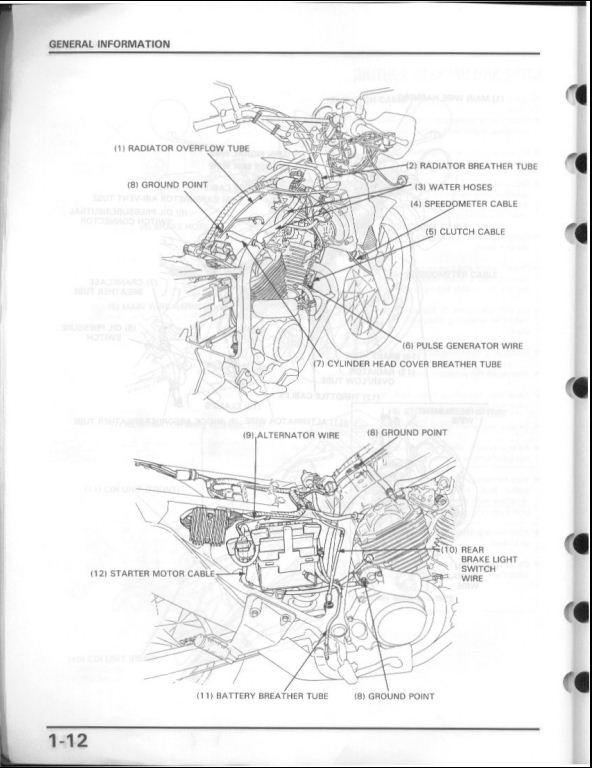 1986-2001 Honda Transalp 600 Motorcycle Service Repair
