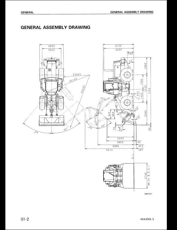 Komatsu Wheel Loaders WA300L-3 Service Repair Workshop