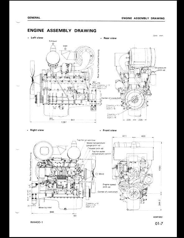 Komatsu Wheel Loaders WA400-1 Service Repair Workshop