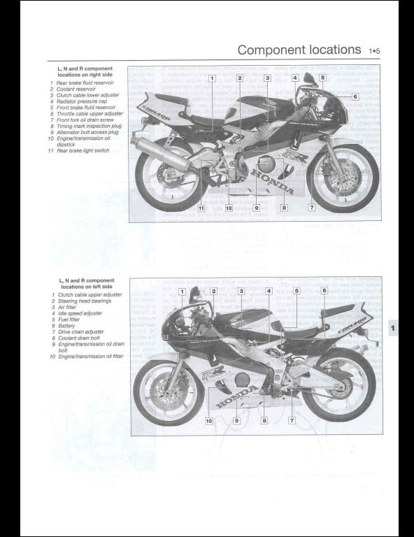 1988-1999 Honda CBR400RR Motocycle Service Repair Workshop
