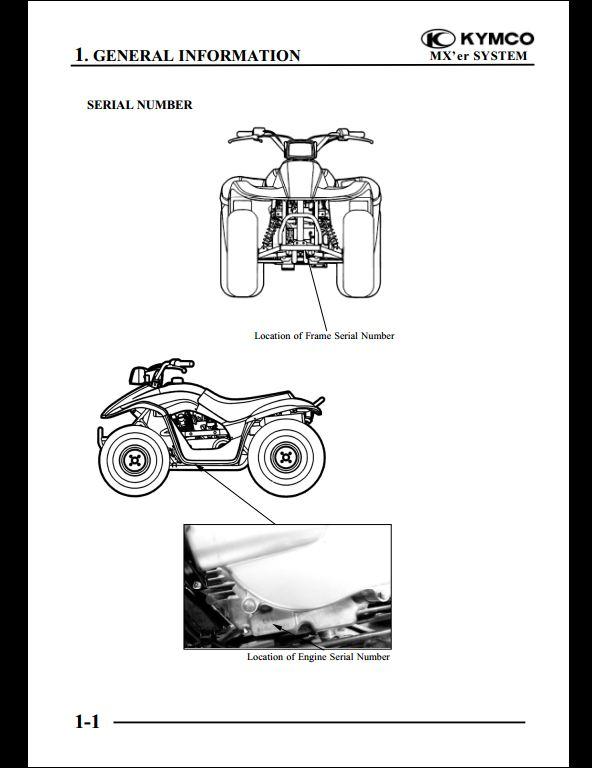 KYMCO MX'er 125/150 Motocycle Service Repair Workshop