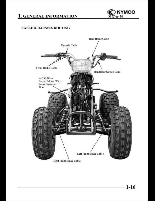 KYMCO MX'er 50 Motocycle Service Repair Workshop Manual