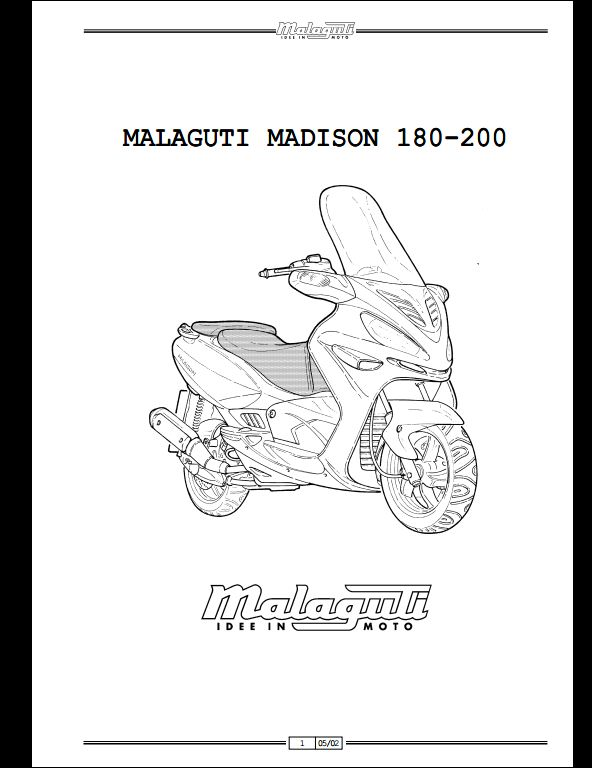 Malaguti Madison 180/200 Motocycle Service Repair Workshop