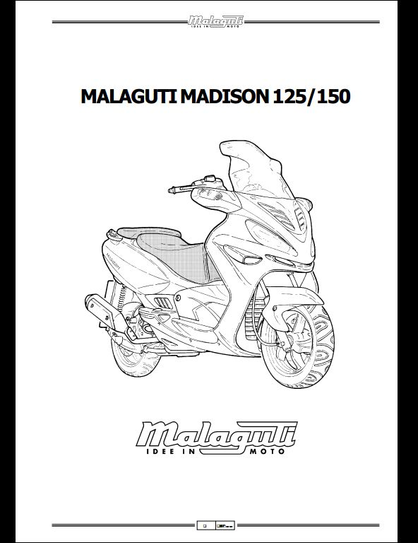 Malaguti Madison 125/150 Motocycle Service Repair Workshop
