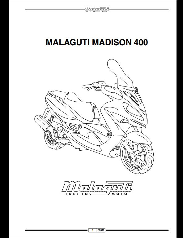 Malaguti Madison 400 Motocycle Service Repair Workshop