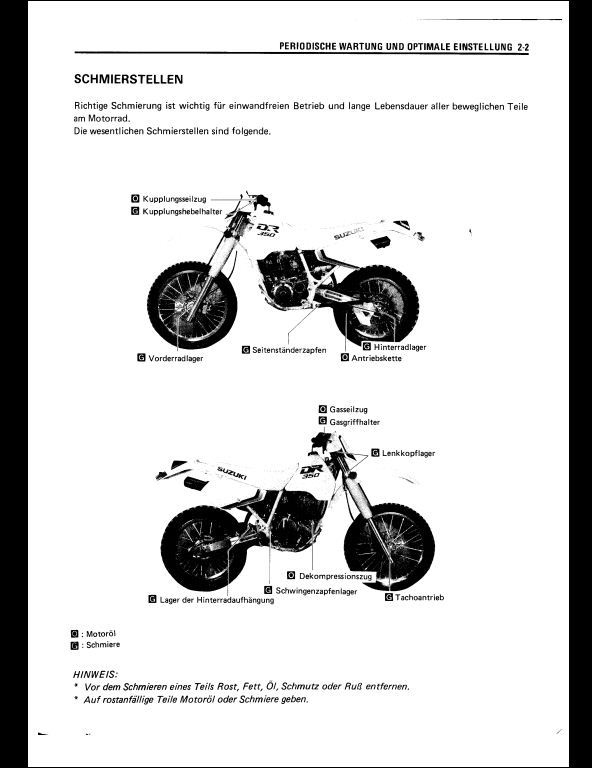 1990 Suzuki DR350 Motocycle Service Repair Workshop Manual