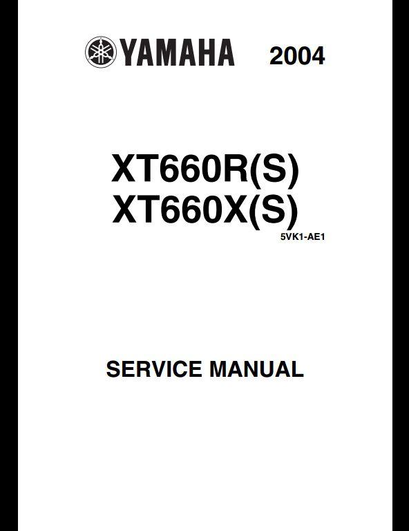 Yamaha XT660R(S),XT660X(S) Motocycle Service Repair