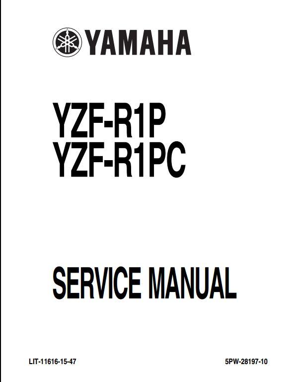 2002 Yamaha YZF-R1P(C) Motocycle Service Repair Workshop