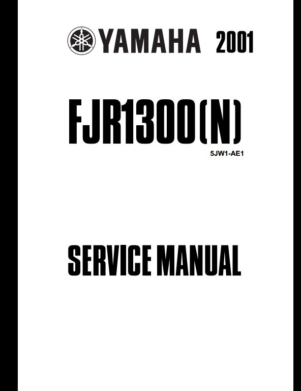 2001 Yamaha FJR1300(N) Motocycle Service Repair Workshop