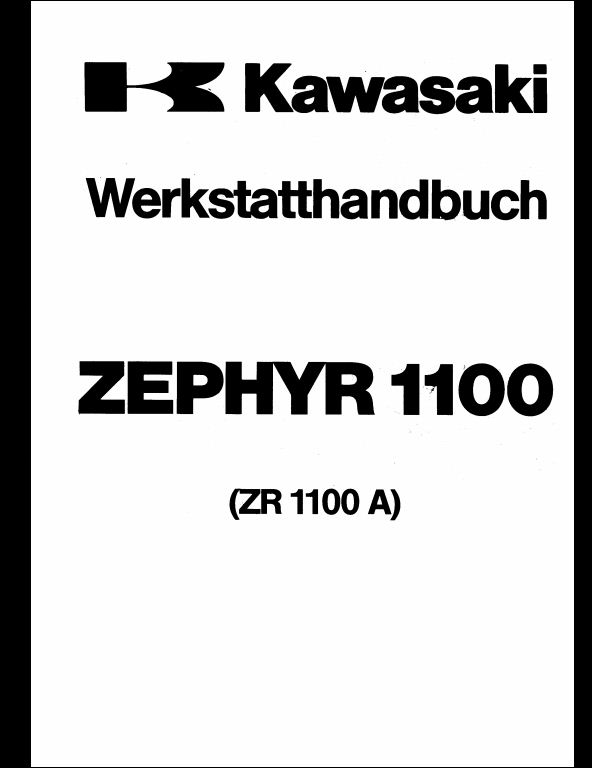 Kawasaki ZEPHYR1100(ZR1100A) Motocycle Service Repair