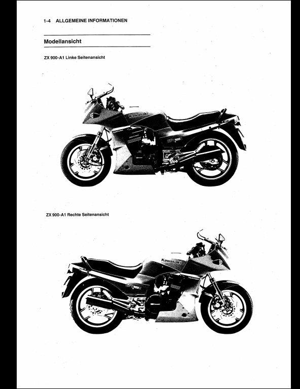 Kawasaki GPZ 900 R(ZX 900 A) Motocycle Service Repair