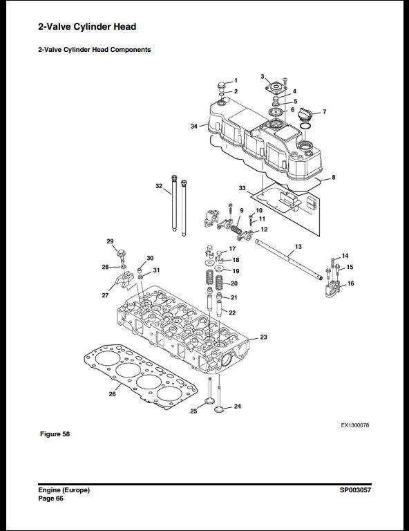 2013 Doosan DX62R-3/DX63-3 Crawled Excavator Service