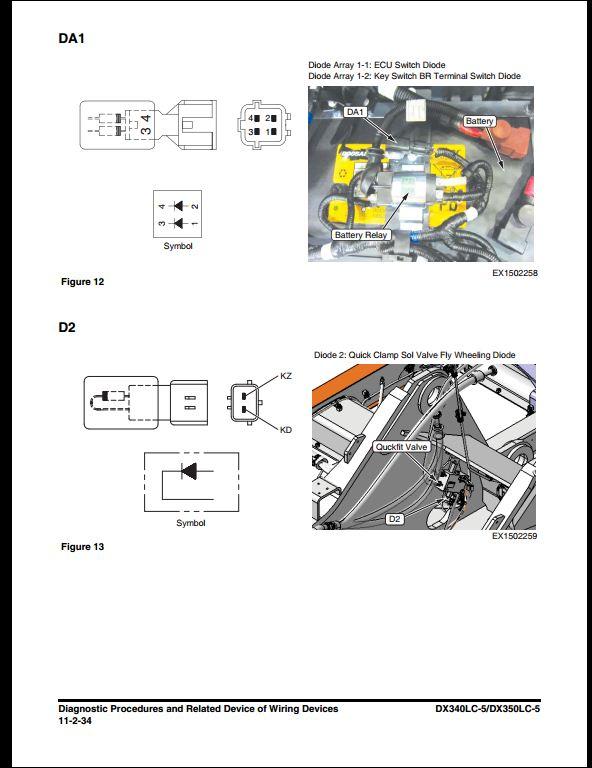 2014 Doosan DX340LC-5/DX350LC-5 Crawled Excavator Service