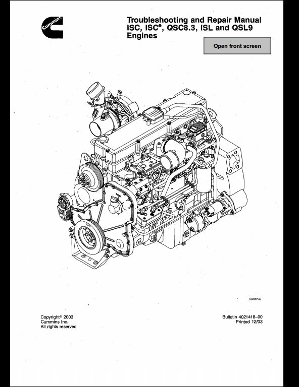 JCB Cummins ISC,iSCe,QSC8.3,ISL and QSL9 Engines