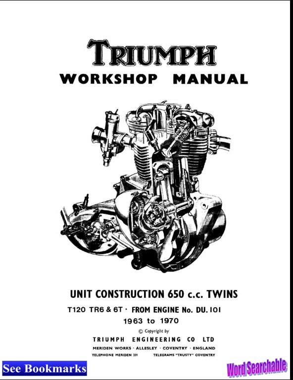 1963-1970 Triumph 650 c.c. UNIT CONSTRUCTION TWINS