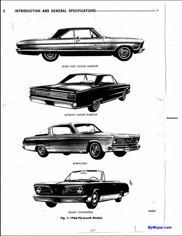 1966 Chrysler-Plymouth Valiant V-100,V-200 Service Repair