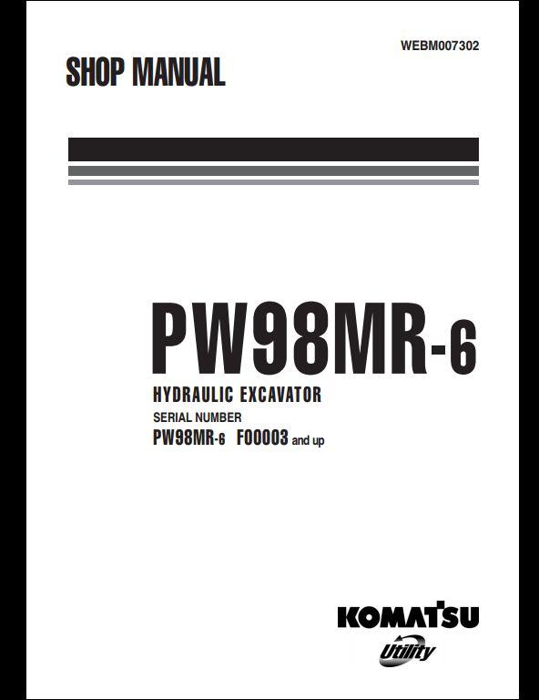 KOMATSU PW98MR-6 Hydraulic Excavator Service Repair