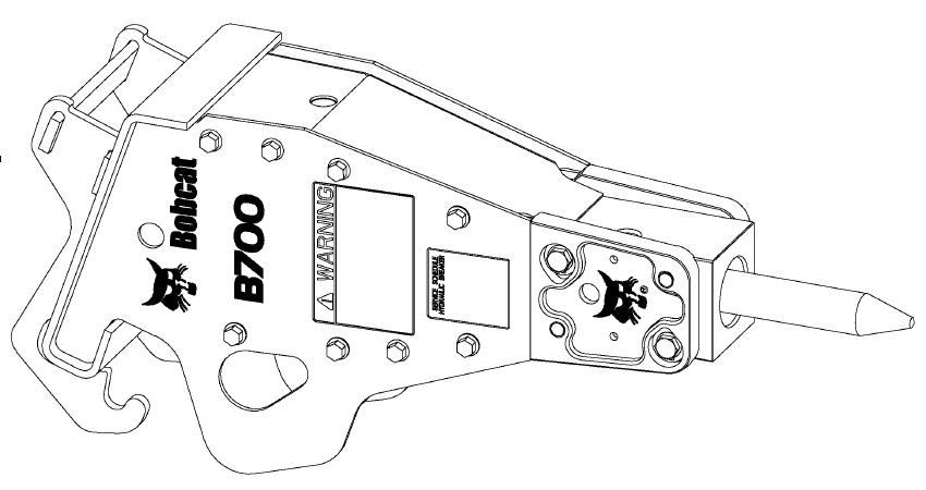 Bobcat B700/B850/B950/B1400 Hydraulic Breaker Service