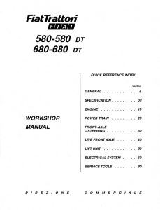 New Holland Fiat 580-580 DT/680-680 DT/570/570-570DT/670