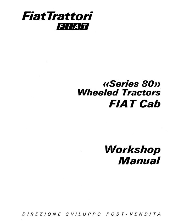 New Holland Fiat Series 80 Wheeled Tractors Service Repair