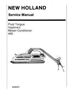 New Holland Ford 499 Haybine Mower-Conditioner Service