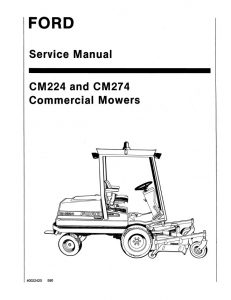 New Holland Ford CM224 and CM274 Commercial Movers Service