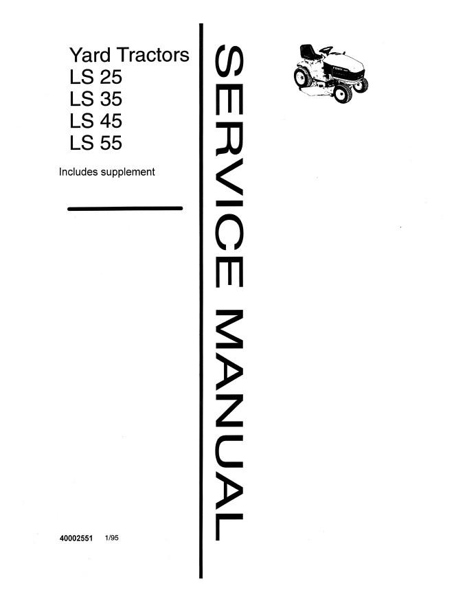 New Holland LS 25/LS 35/LS 45/LS 55 Yard Tractor Service