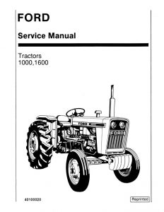 New Holland Ford 1000/1600 Tractor Service Repair Manual