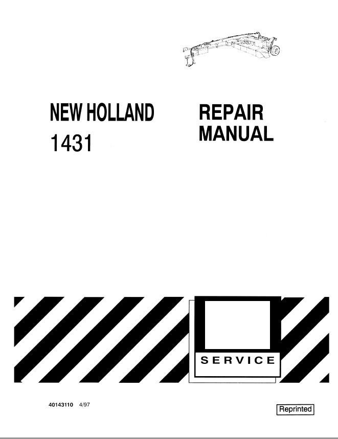 New Holland Ford 1431 Mower Conditioners Service Repair