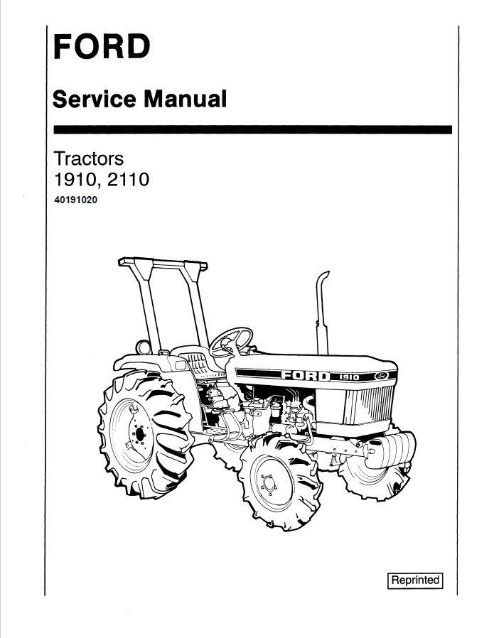 New Holland Ford 1910/2110 Tractor Service Repair Manual