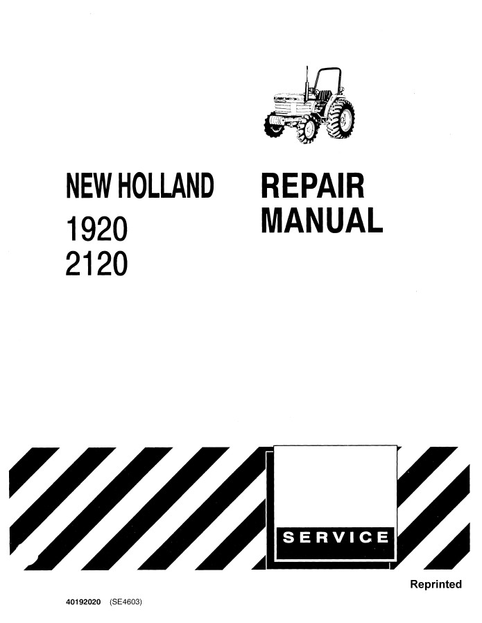 New Holland Ford 1920/2120 Tractor Service Repair Manual