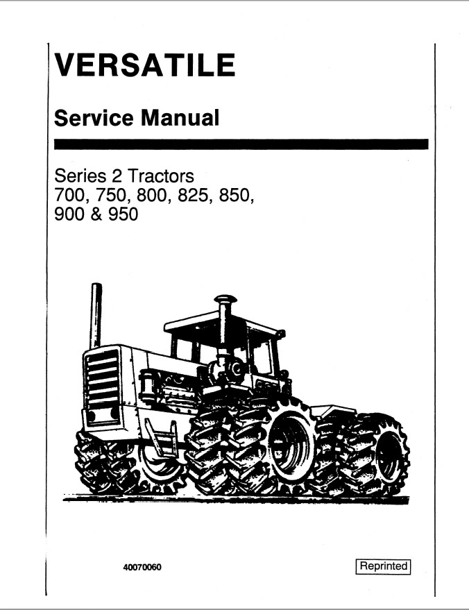 New Holland Ford 700/750/800/825/850/900/950 Tractors