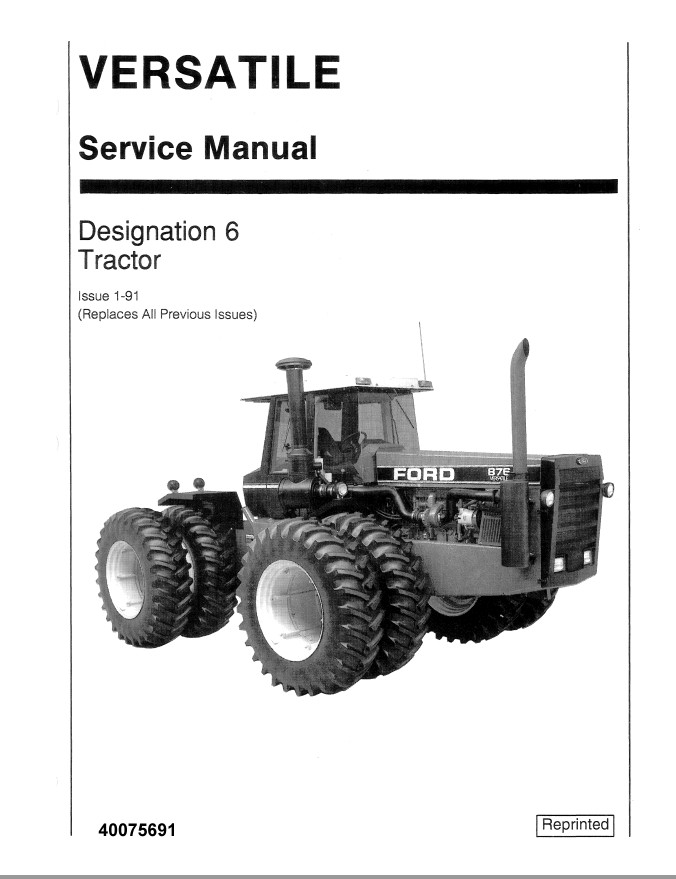 New Holland Ford Designation 6 Tractor Service Repair