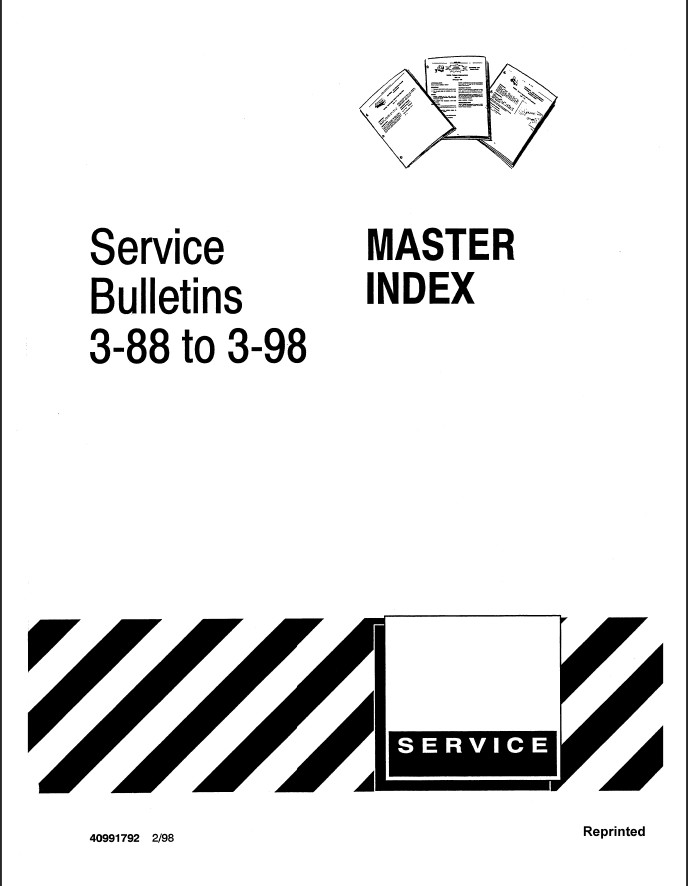 New Holland Ford Master Index Service Bulletin 3-88 to 3