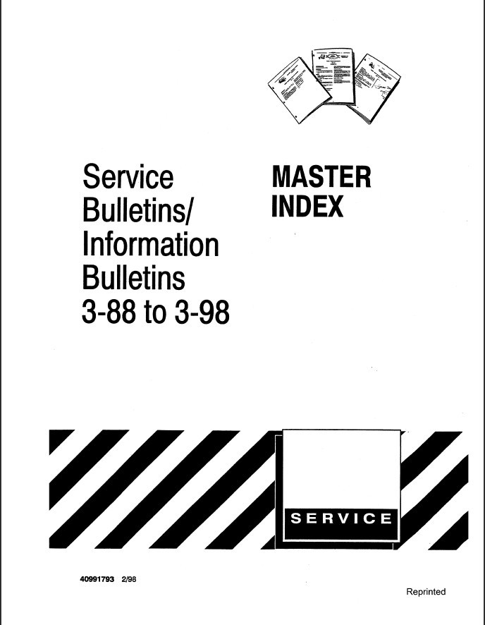 New Holland Ford Master Index Service Bulletins