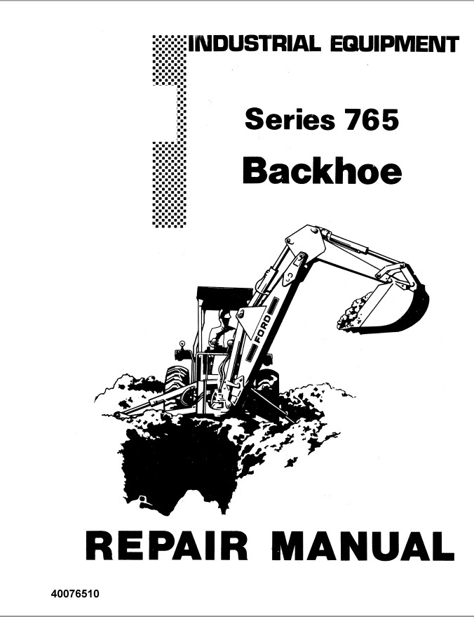 New Holland Ford Series 765 Backhoe Tractor Service Repair
