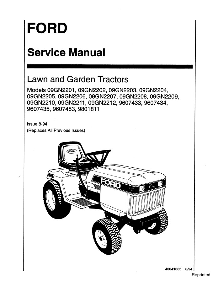 New Holland Lawn and Garden Tractors Service Repair Manual