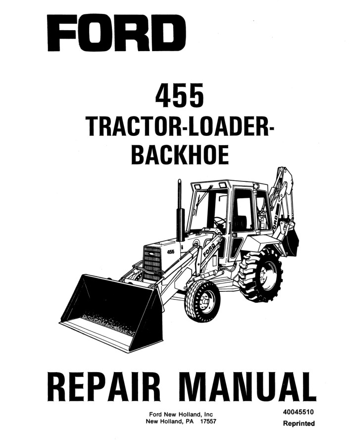 New Holland 455 Tractor-Loader-Backhoe Service Repair