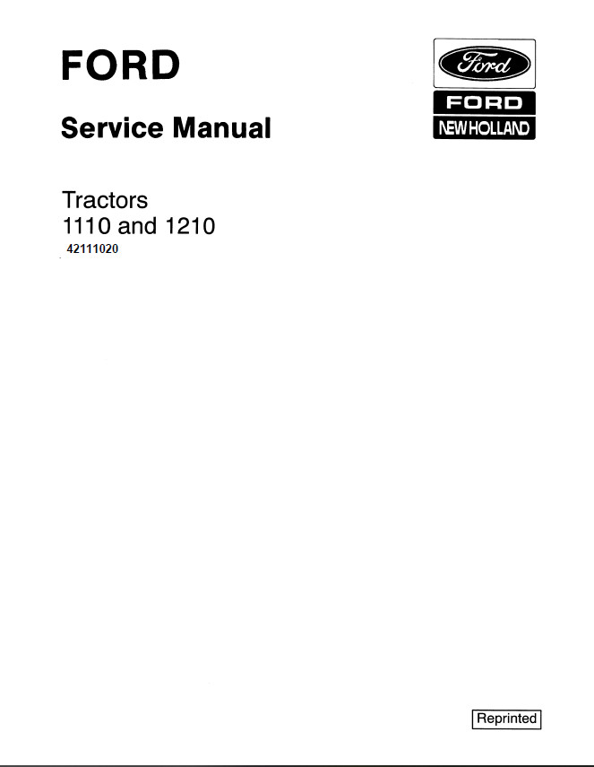New Holland Ford 1110 and 1210 Tractor Service Repair