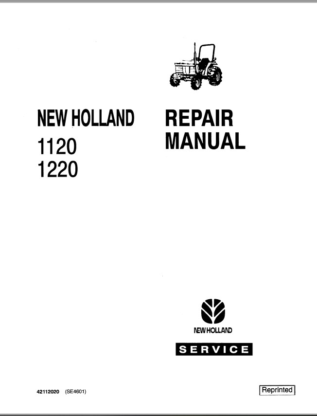 New Holland Ford 1120 and 1220 Tractor Service Repair